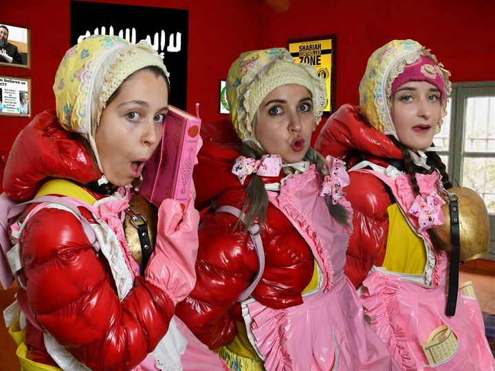 german frenchmaids ready for duty - maids in plastic clothes