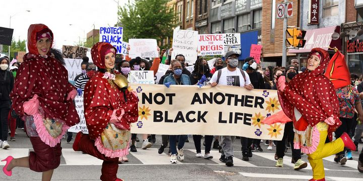 Only Black Lives Matter! - maids in plastic clothes