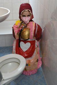 ゴムブルカのドイツの女の子