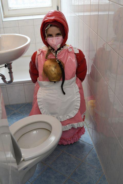 "page 126: ""crap rubberwhore Ailika"" - maids in plastic clothes"