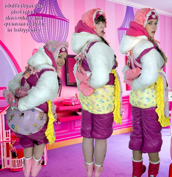 adultbabymaids - maids in plastic clothes