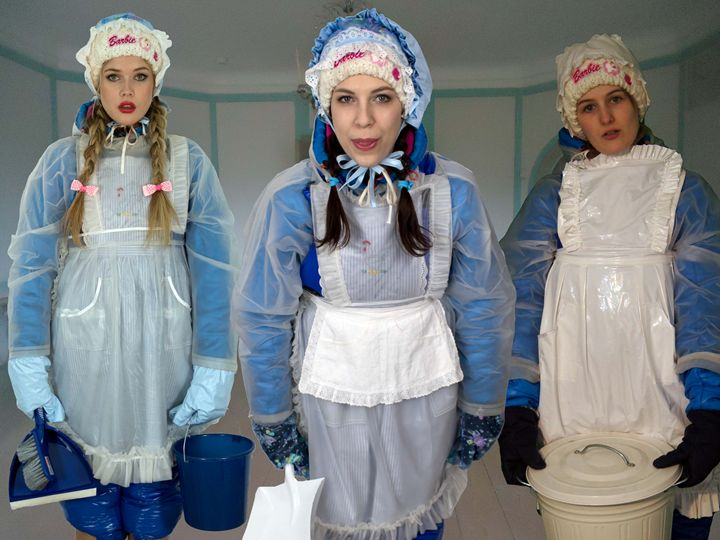 well-trained frenchmaids - maids in plastic clothes