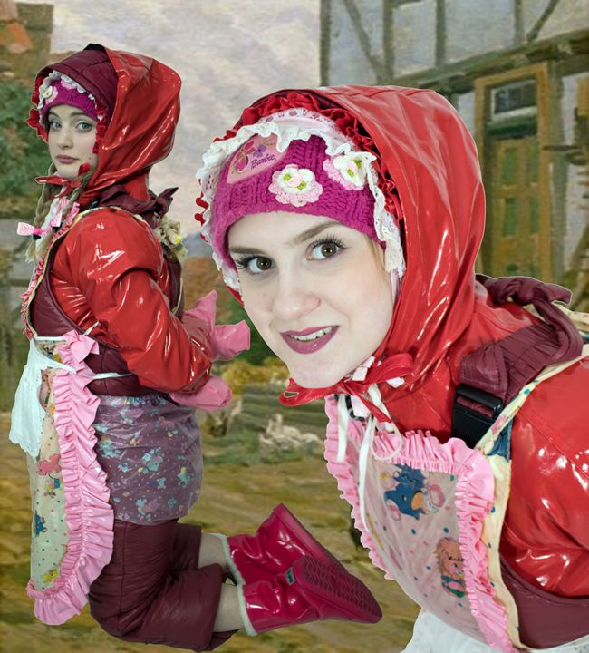 maid lahmakhinzira and servilja - maids in plastic clothes