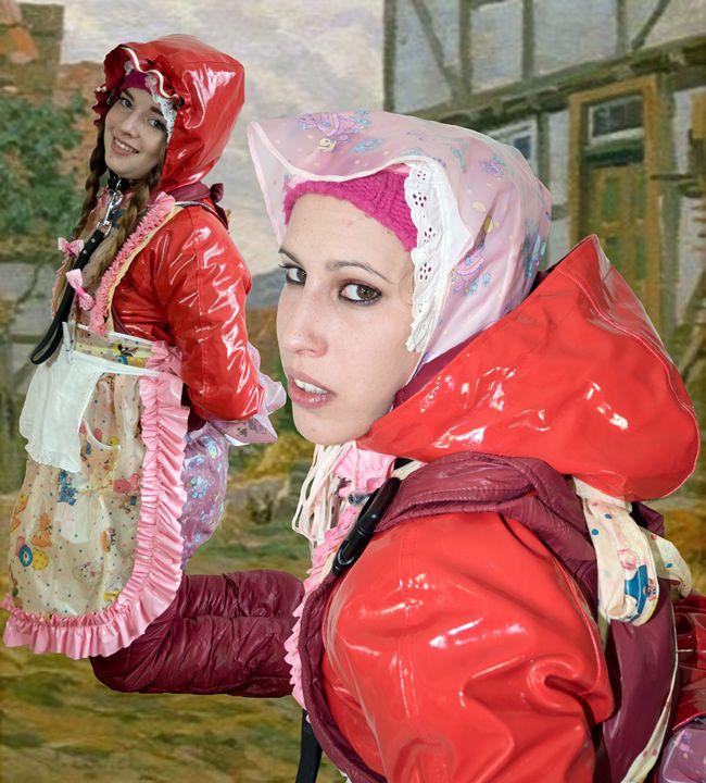 peasant maids - maids in plastic clothes