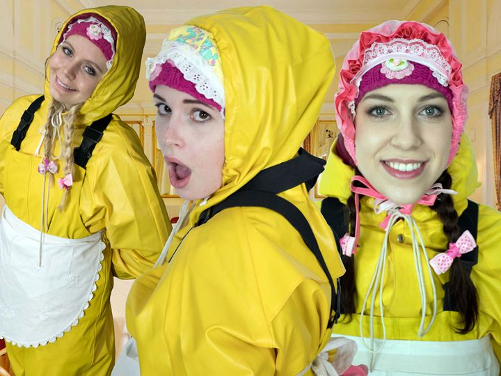 yellow frenchmaids - maids in plastic clothes