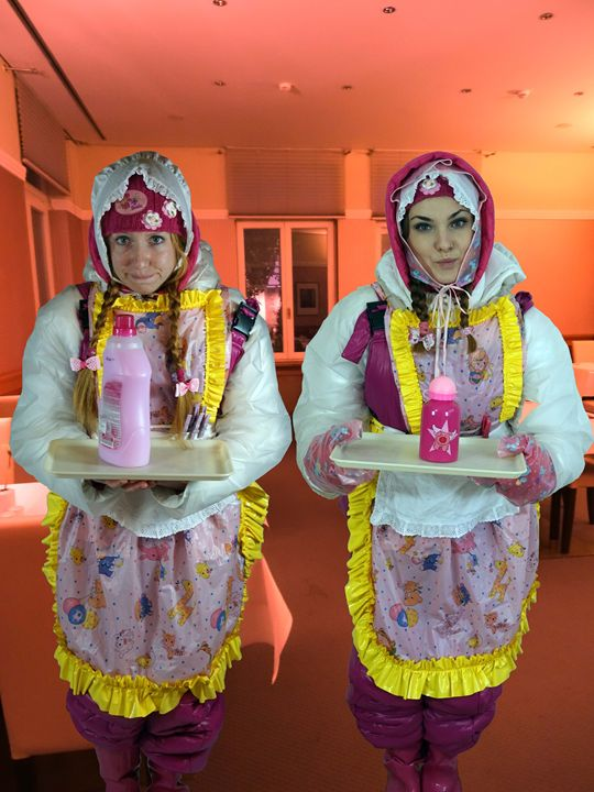 waitresses on service1 - maids in plastic clothes