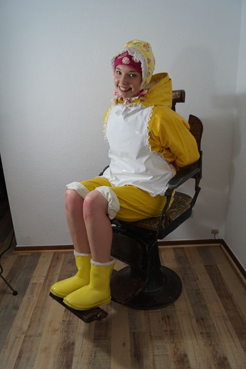 maid derma padrusnika barber chair - maids in plastic clothes