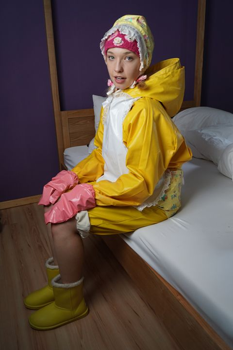 well-trained maid derma padrusnika - maids in plastic clothes