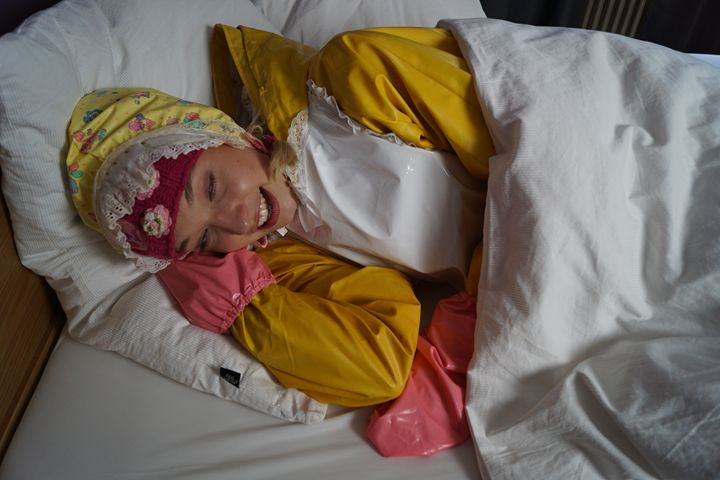 maid daerma padrusnika waking up - maids in plastic clothes