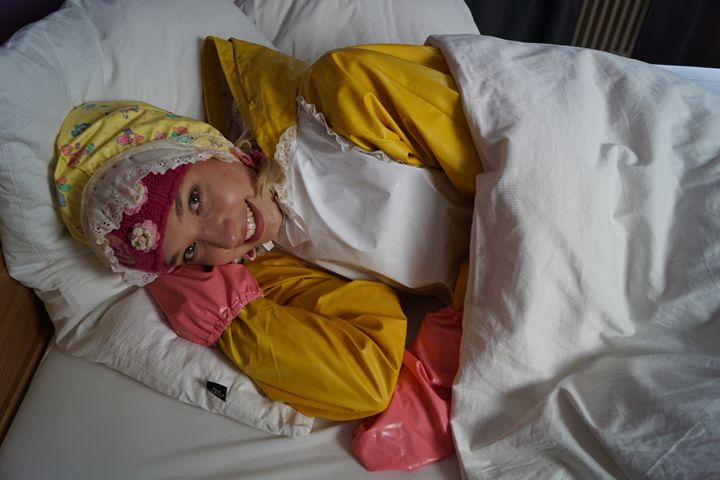 maid derma padrusnika under pillows - maids in plastic clothes