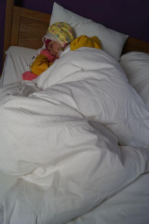 maid derma padrusnika sleeping - maids in plastic clothes