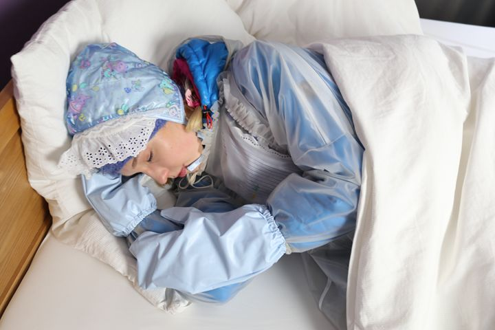 cute littleone dermapadrusnika - maids in plastic clothes