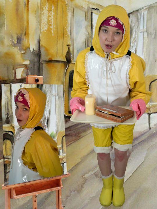 waitress dermapadrusnika - maids in plastic clothes