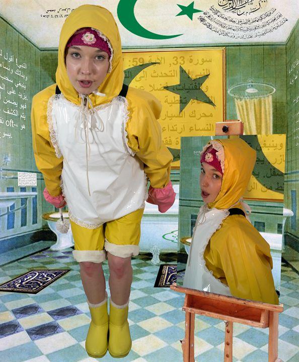 loomaid dermapadrusnika - maids in plastic clothes