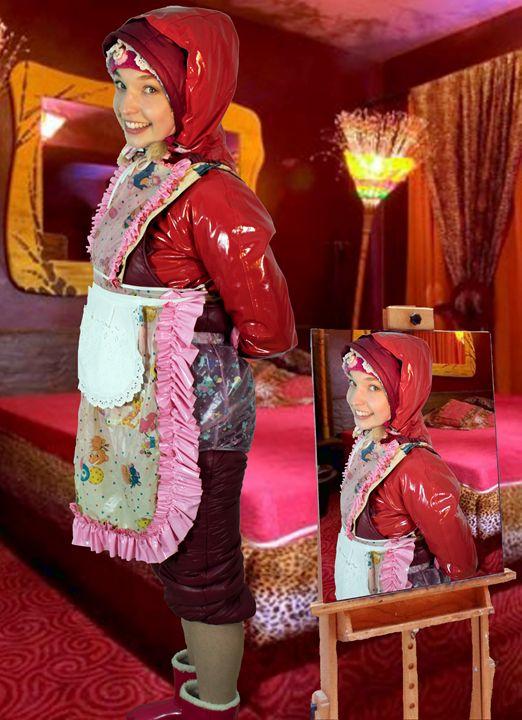 waiting maid dermapadrusnika - maids in plastic clothes