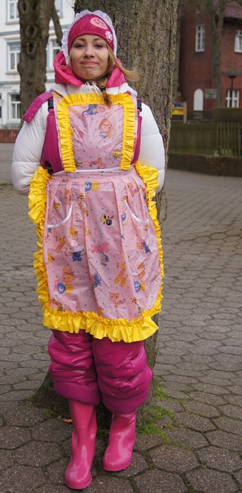 i am so proud of my apron! - maids in plastic clothes