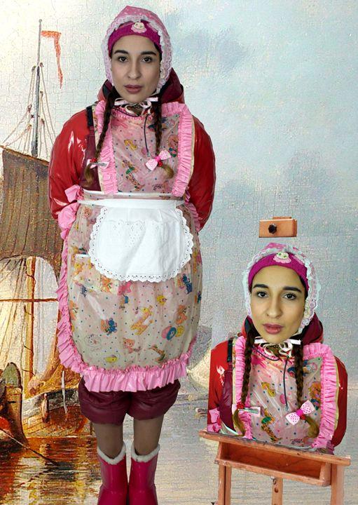 i am the coy maid aljurumaki - maids in plastic clothes