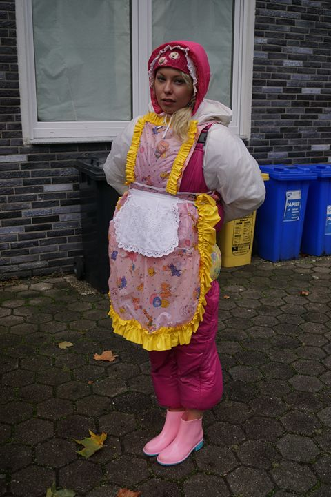 long day for maid zulmapadrusnika - maids in plastic clothes