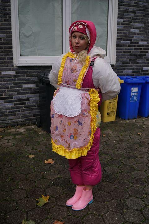 maid zulmapadrusnika always ready - maids in plastic clothes