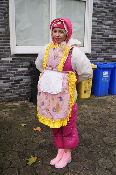 maid zulmapadrusnika ready for work - maids in plastic clothes