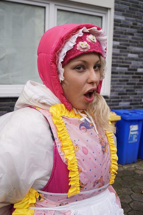 "maid zulmapadrusnika say:""Hello!"" - maids in plastic clothes"