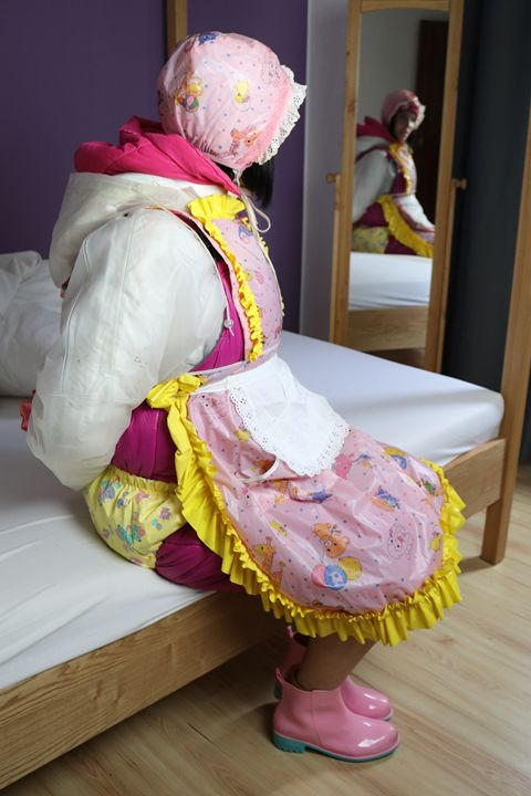 maid in hotpants - maids in plastic clothes