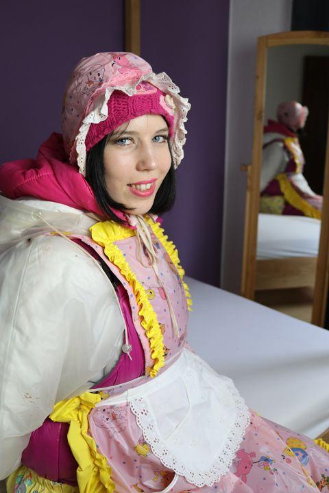 maid gorlasberma smiling - maids in plastic clothes
