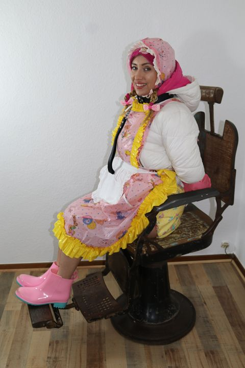"""maid minjeta says: """"Hello You!"""" - maids in plastic clothes"""