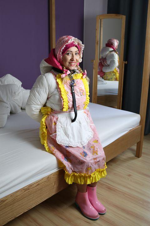 maid minjeta again - maids in plastic clothes