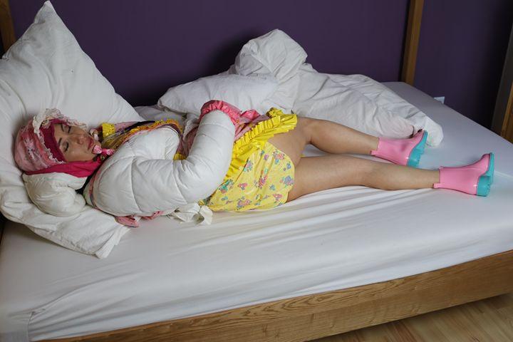 beautiful maid minjeta - maids in plastic clothes