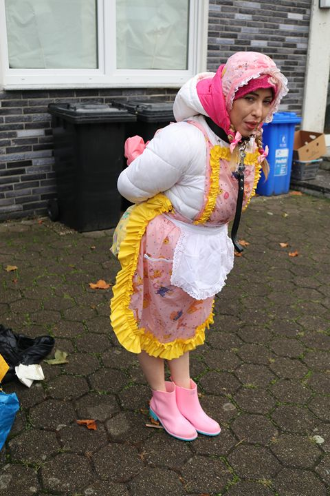 maid minjetas long day - maids in plastic clothes