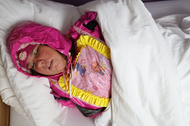 maid jirnajasea sleeping - maids in plastic clothes