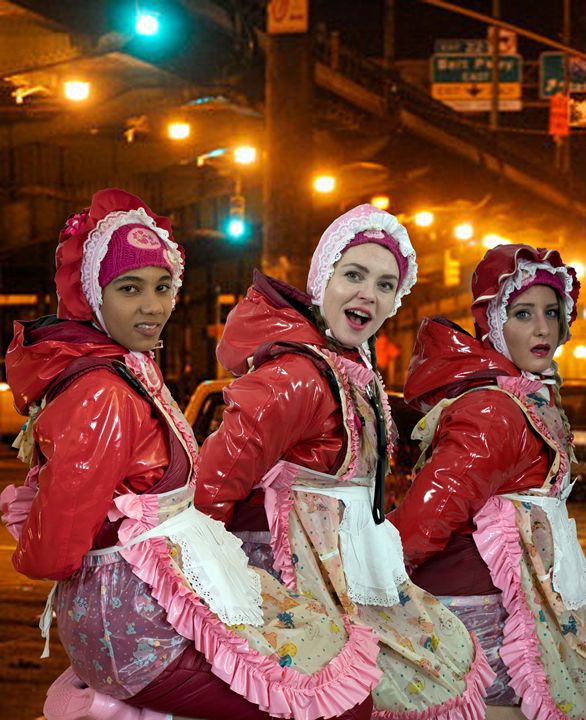 maids at night - maids in plastic clothes