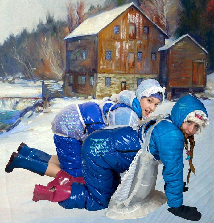 blue snowmaids dermapadrusnika a o - maids in plastic clothes