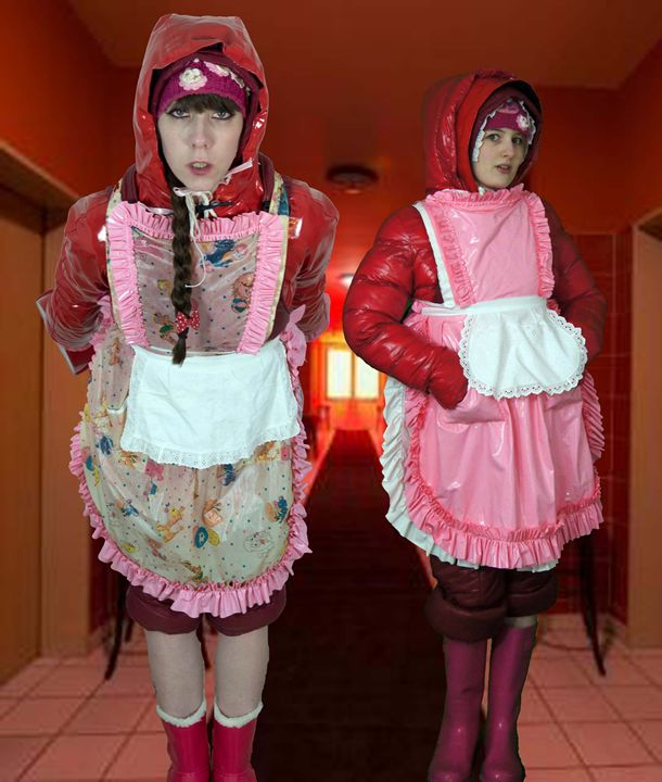 brothelmaids on duty - maids in plastic clothes