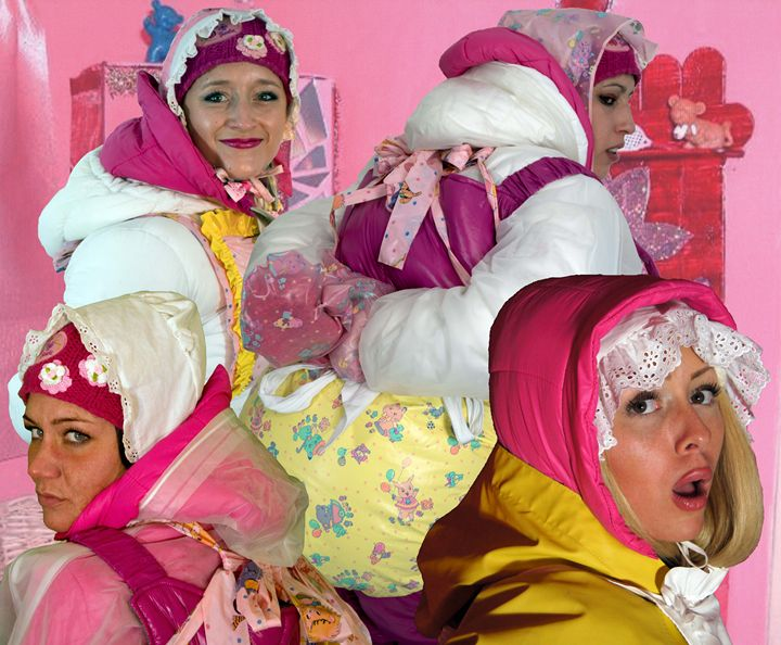 barbiedolls - maids in plastic clothes