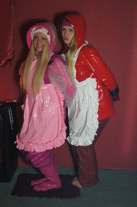 maids kahba-zulma and sissy-zulma - maids in plastic clothes