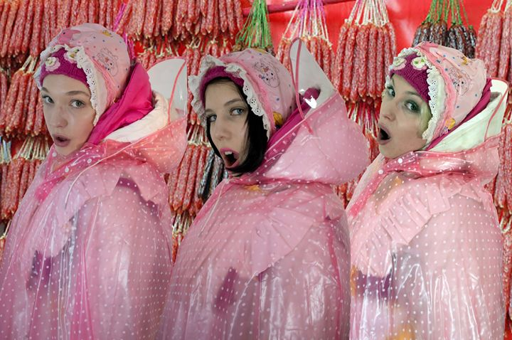 meatmaids - maids in plastic clothes