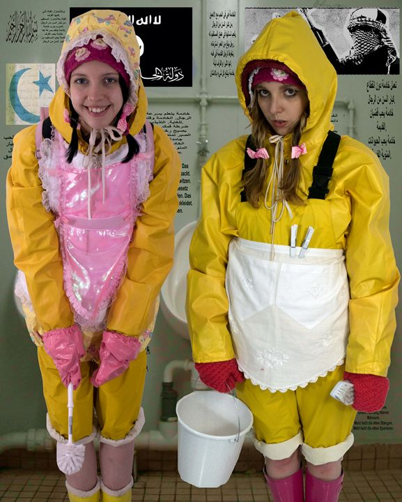 loomaids litsoderma and latrinia - maids in plastic clothes