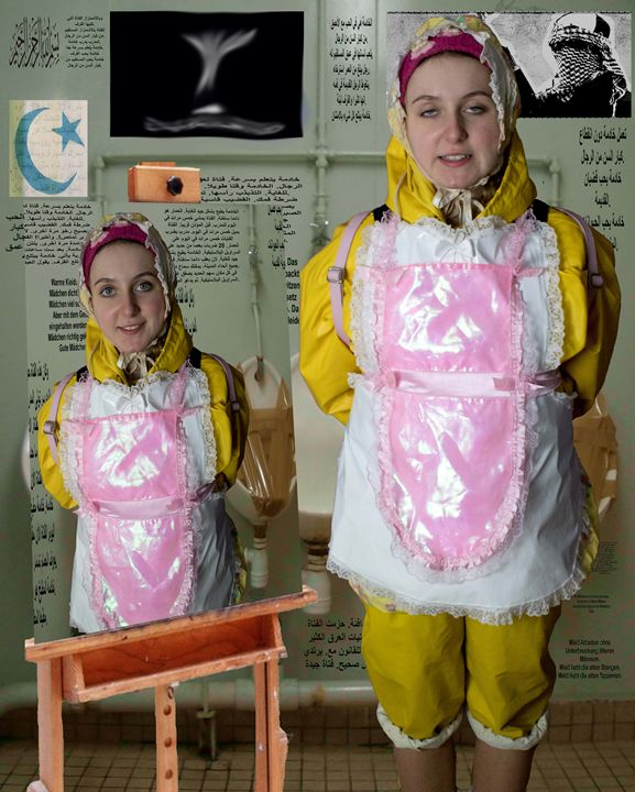 beautiful loomaid morona pigleta - maids in plastic clothes