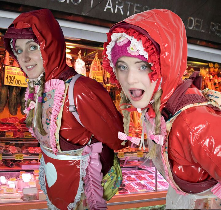 meat-maids waiting for Users - maids in plastic clothes