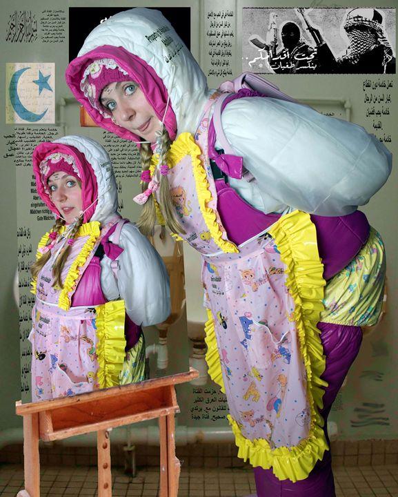 loomaid morona pigleta - maids in plastic clothes
