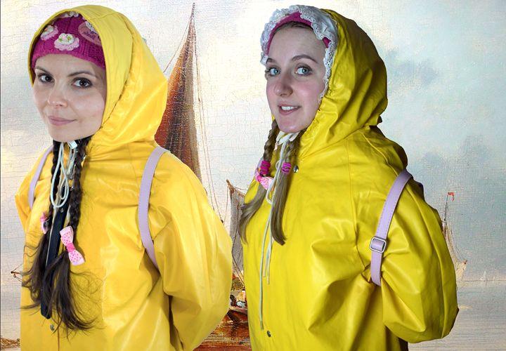 Friesennerz girls - maids in plastic clothes