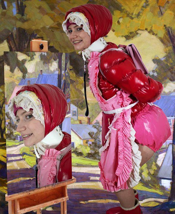 maid masochazulma - maids in plastic clothes