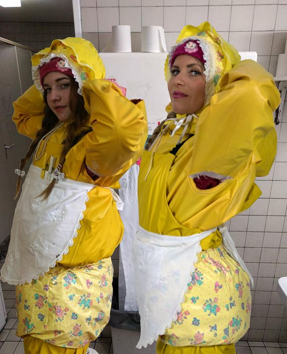 toilet-maids - maids in plastic clothes