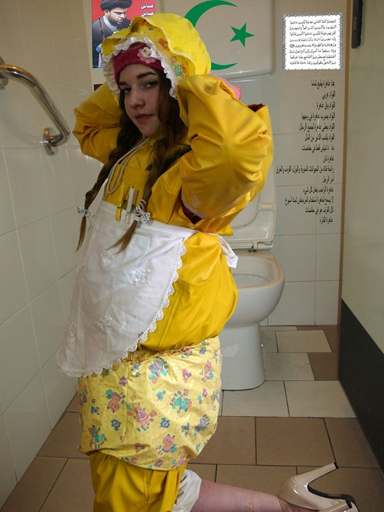 loo-maid flabbyzulma - maids in plastic clothes