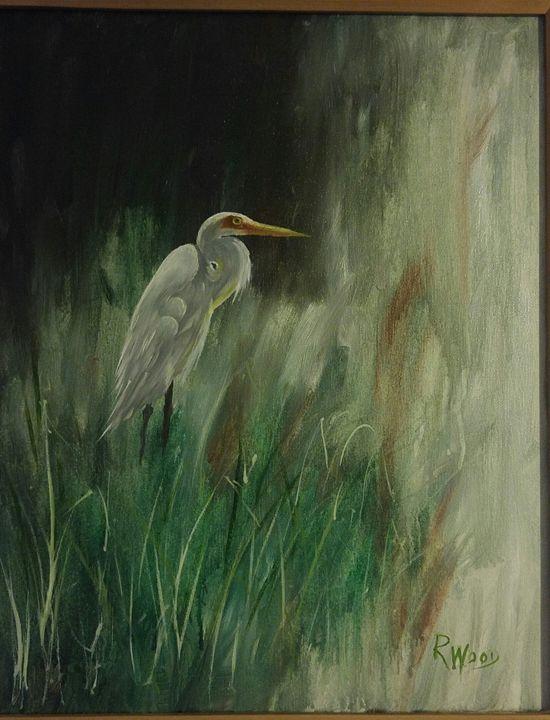 Marsh Egret - Robert Wood Fine Art