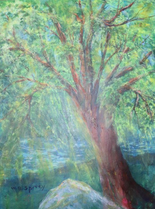 Summer tree, 3 x 4 - SpiveyArt