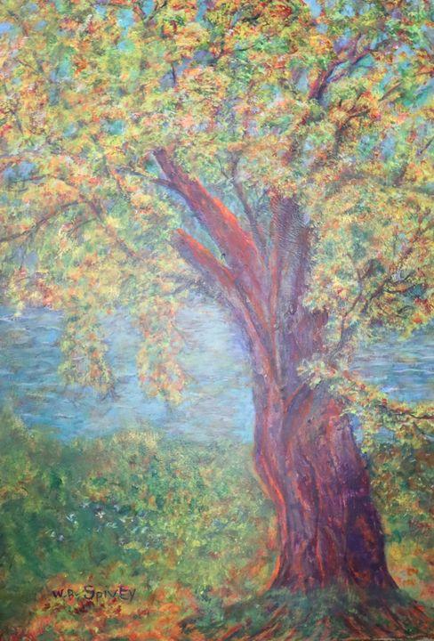Autumn tree, 3 x 4 - SpiveyArt