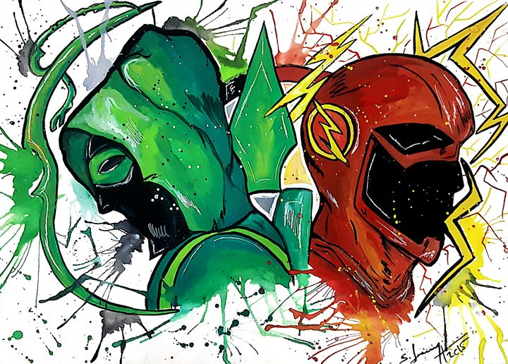 The Flash vs Green Arrow - Aartliner
